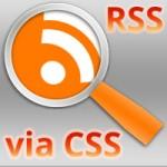 RSS Icon via CSS