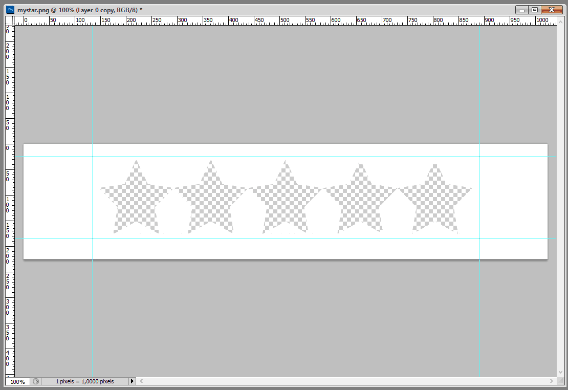 Transparent stars for css rating bar