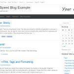 Extra Speed Blog – most fast free WordPress Template