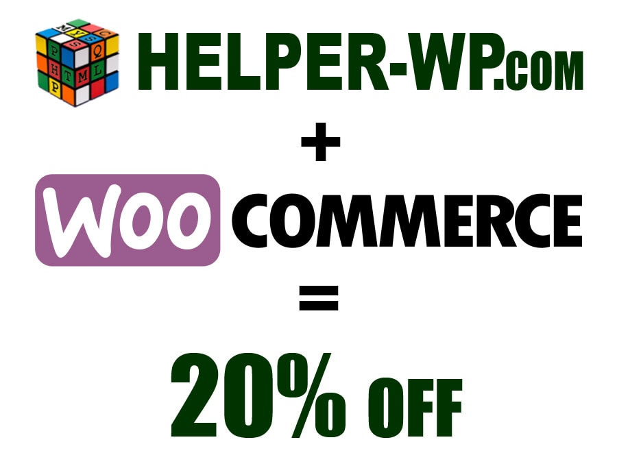Woocommerce plugins discount, 20% off
